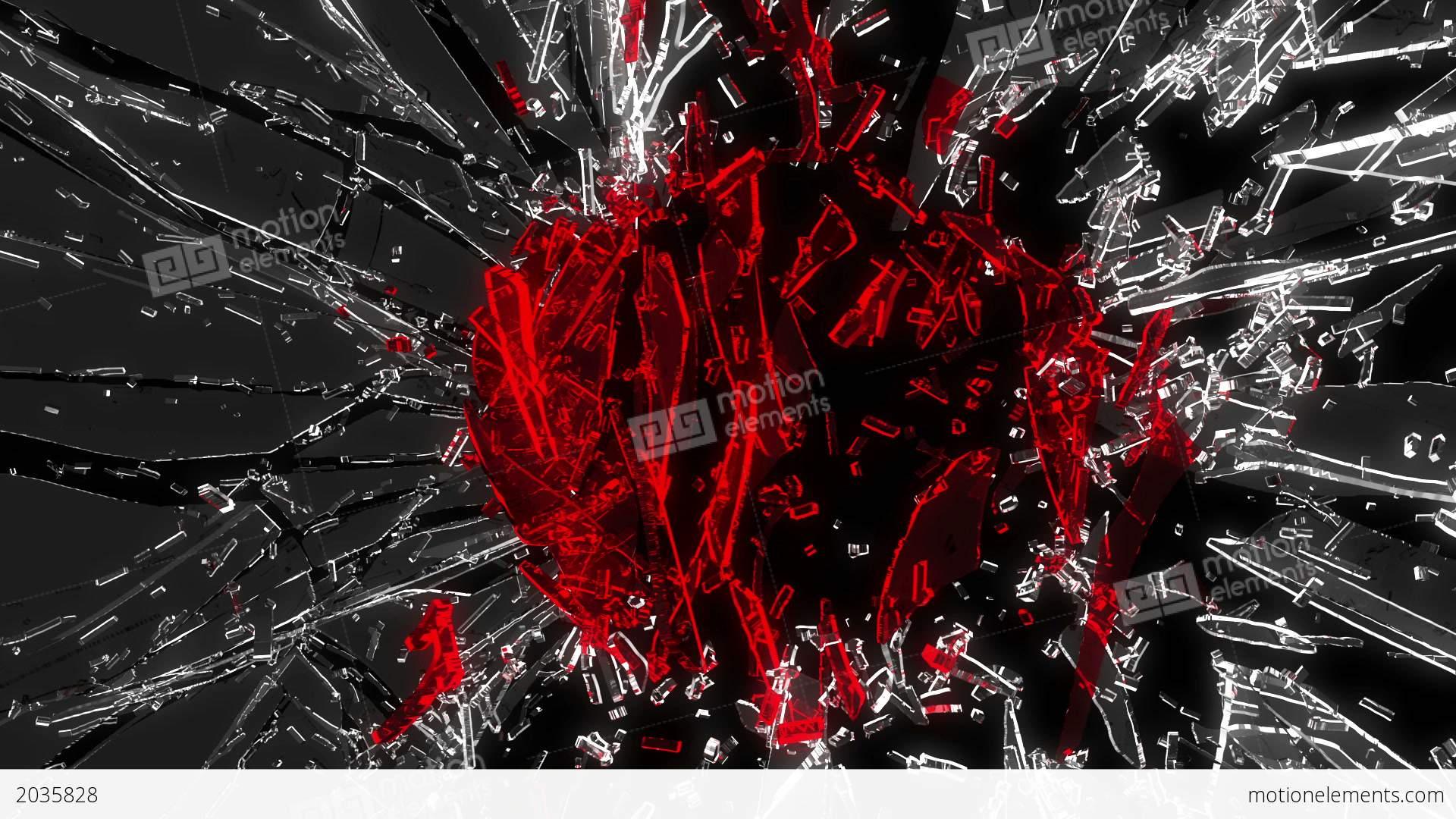 Shattered glass red broken heart shape alpha is stock animation shattered glass red broken heart shape alpha is stock video footage biocorpaavc Images