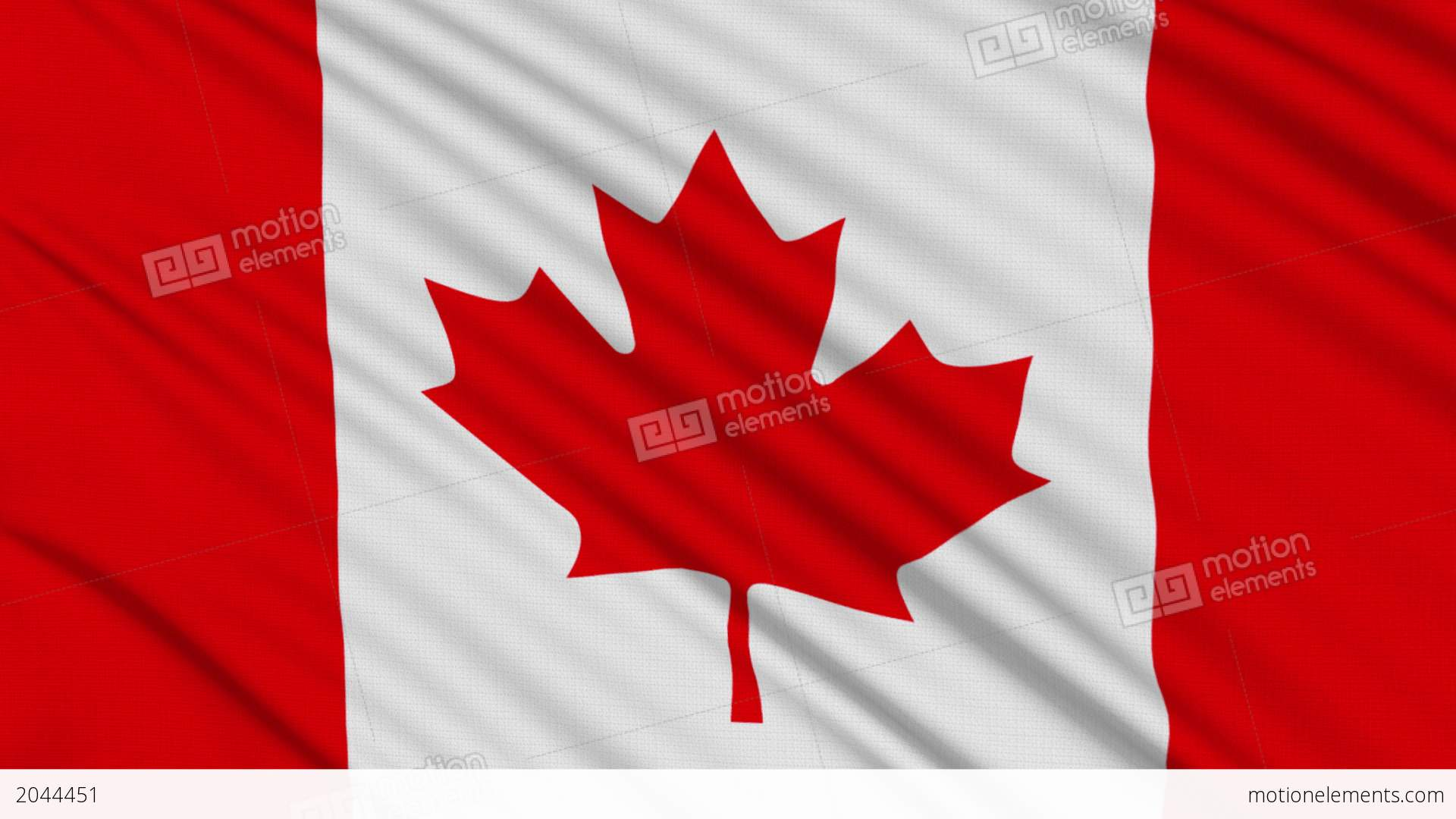 canada flag with real structure of a fabric stock animation 2044451