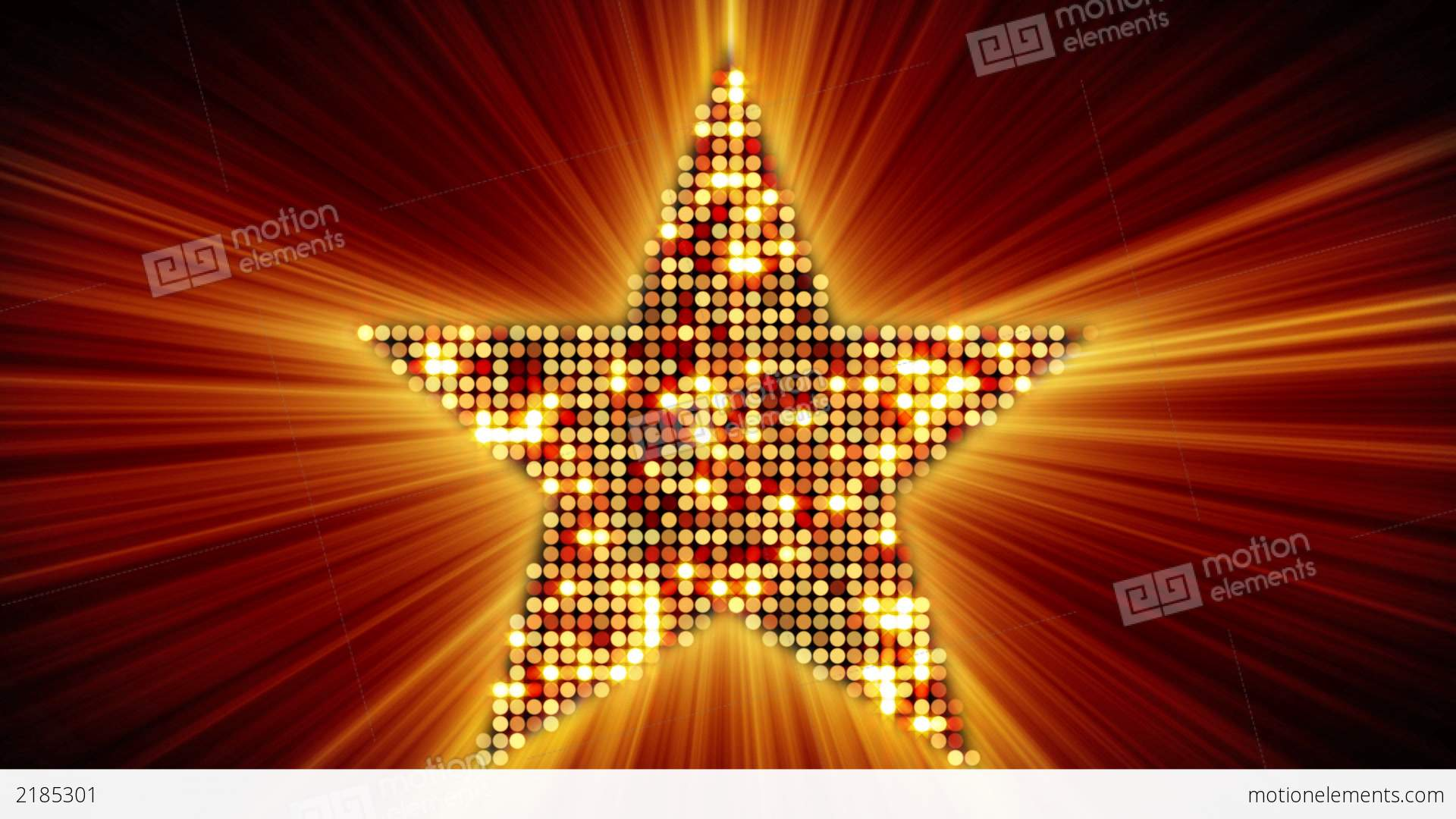 Shining Star Shape Of Orange Particles Loopable Stock