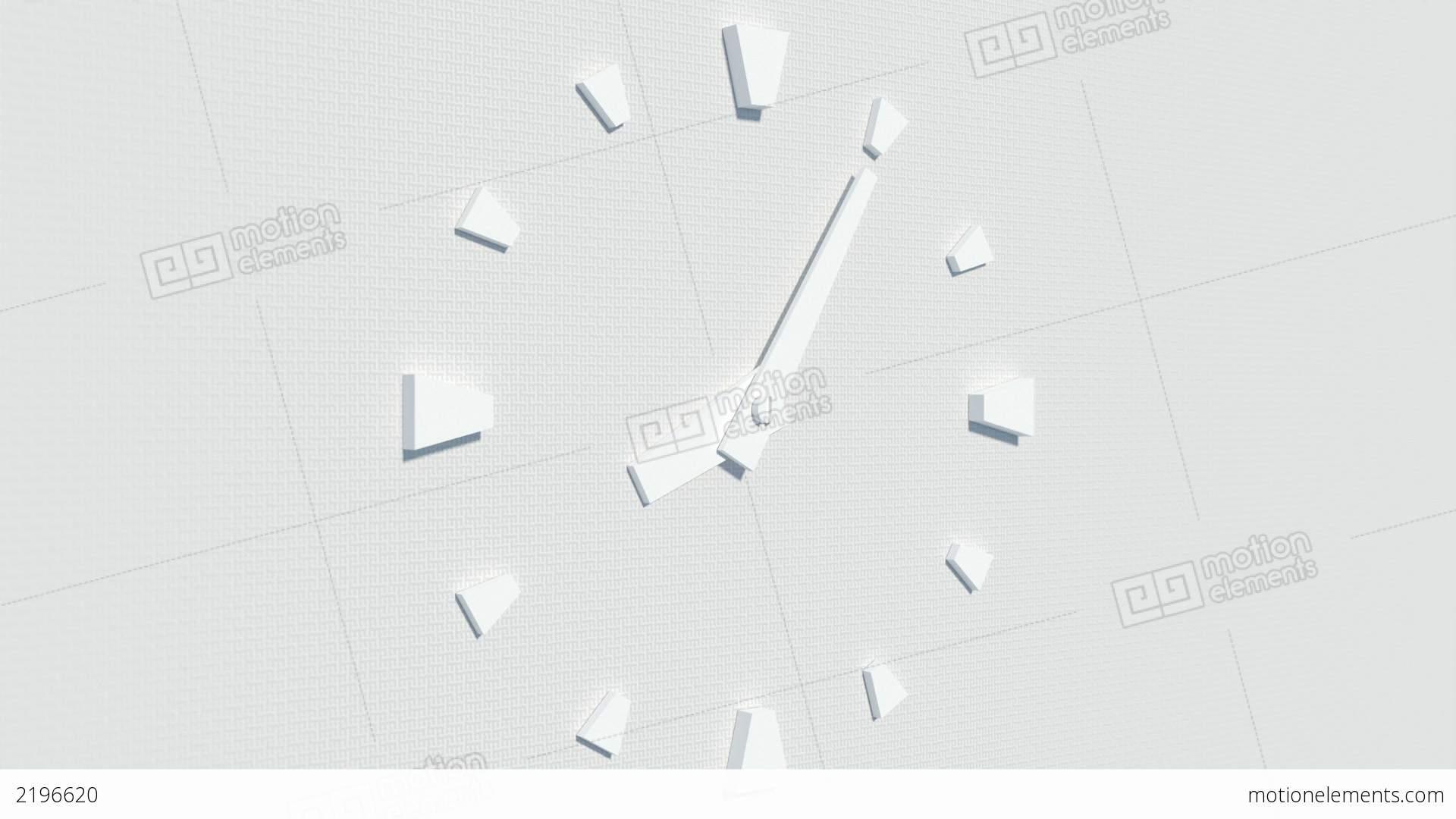 Good Modern White Clock Part - 12: Modern White Wall-type Clock Timelapse Animation Stock Video Footage