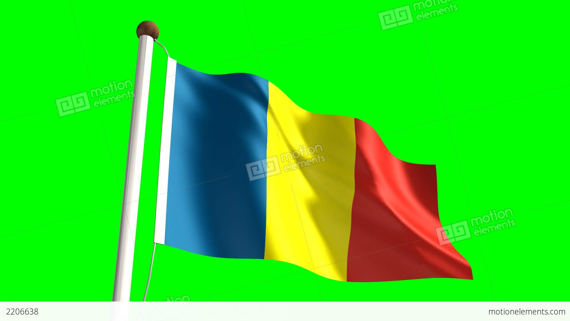 Chad Flag Stock Animation - Chad flag