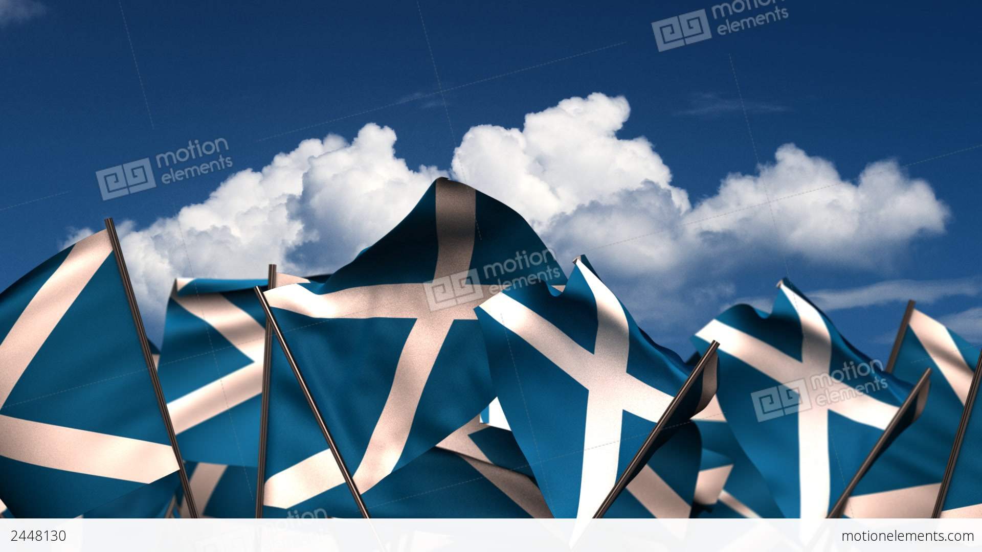 <b>Scotland</b> Waving <b>Flag</b>: Royalty-free video and stock footage