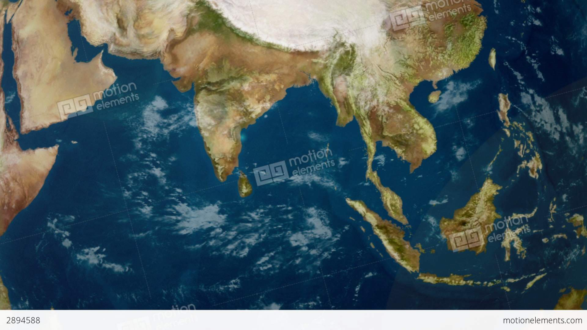 earth zoom to indian ocean stock video footage