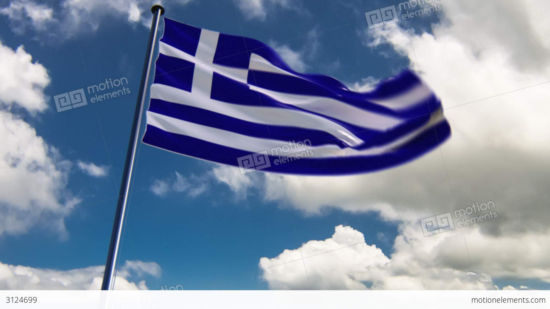 greece flag hq animated on an epic background stock animation 3124699