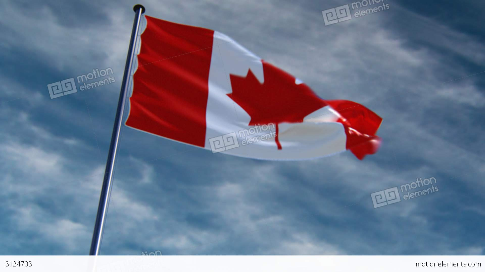 canada flag hq animated on an epic background stock animation