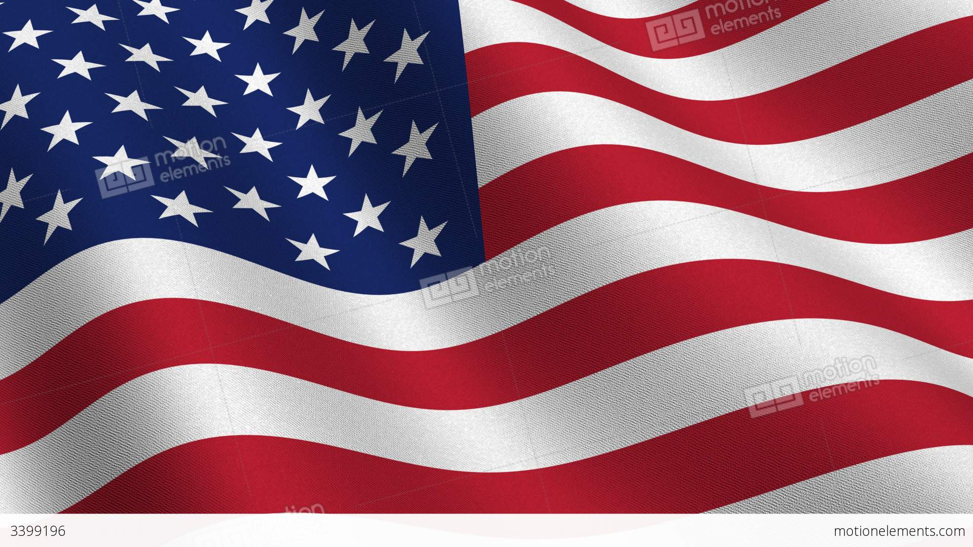 USA Flag Waving In The Wind Seamless Loop Stock Animation ...