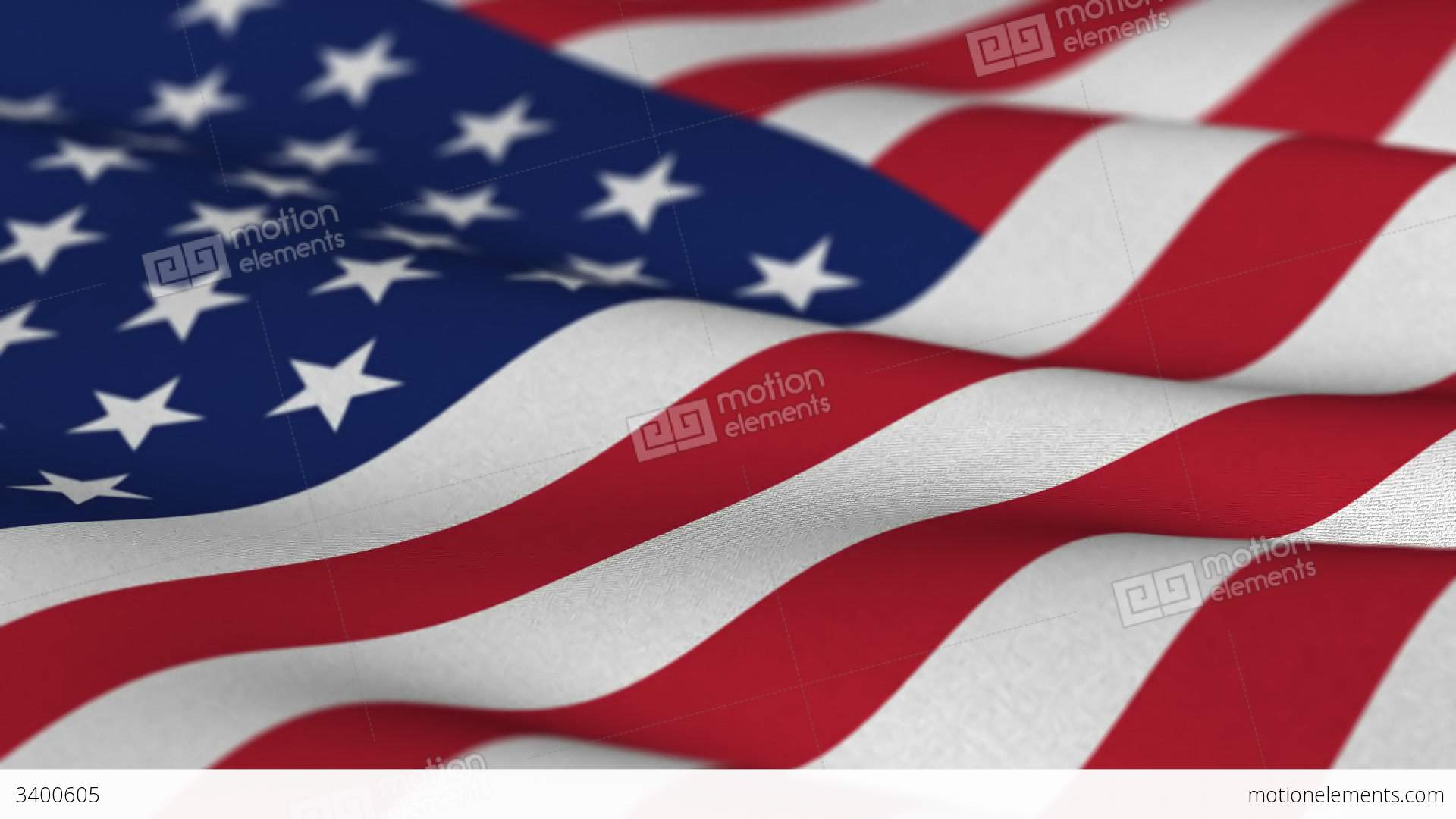 677ea0d26bf USA flag waving in the wind seamless loop Stock Video Footage