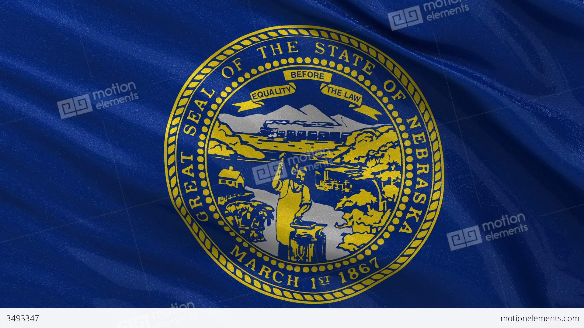 US State Flag Of Nebraska Seamless Loop Stock Animation - Is nebraska in the united states