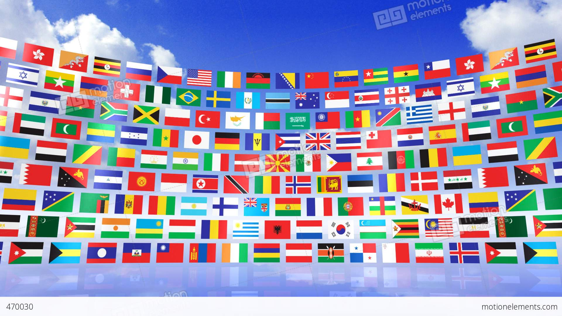 World Flags 3rmbs Stock Animation