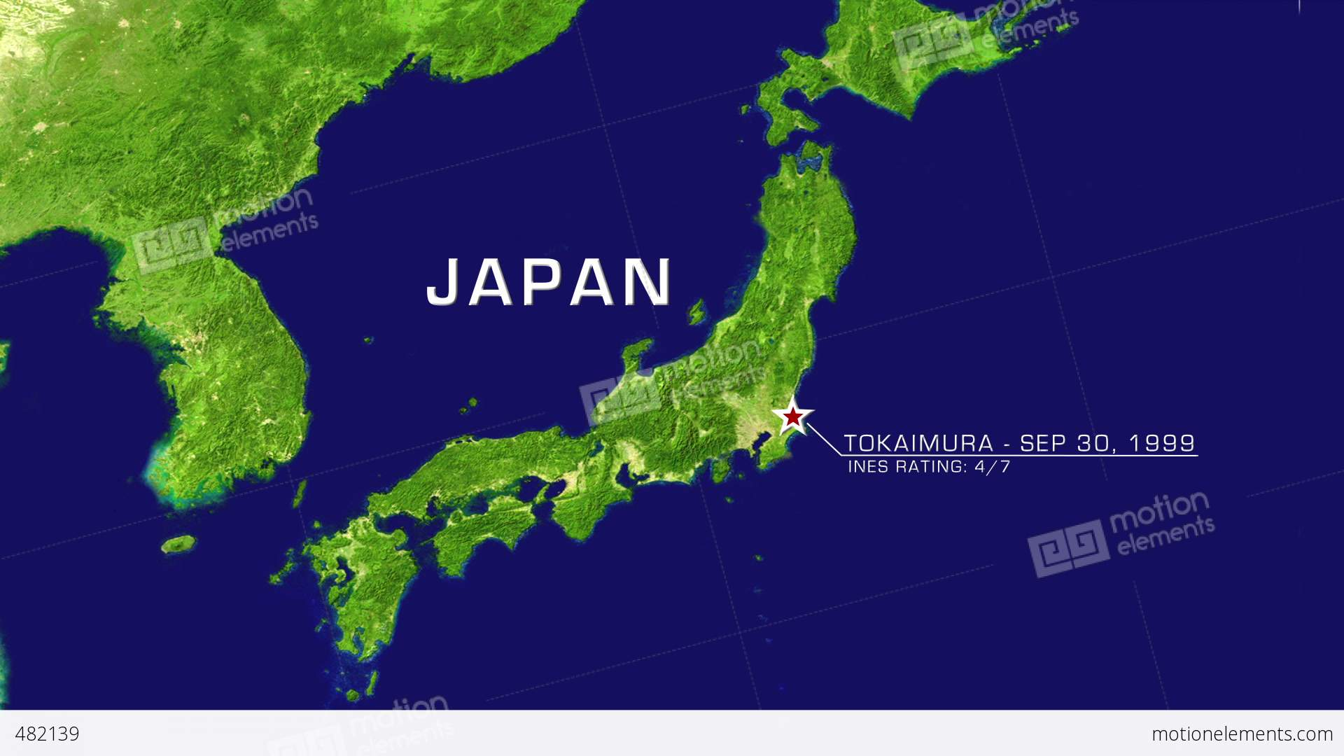 Continental Map Stock Animation - Japan map hd