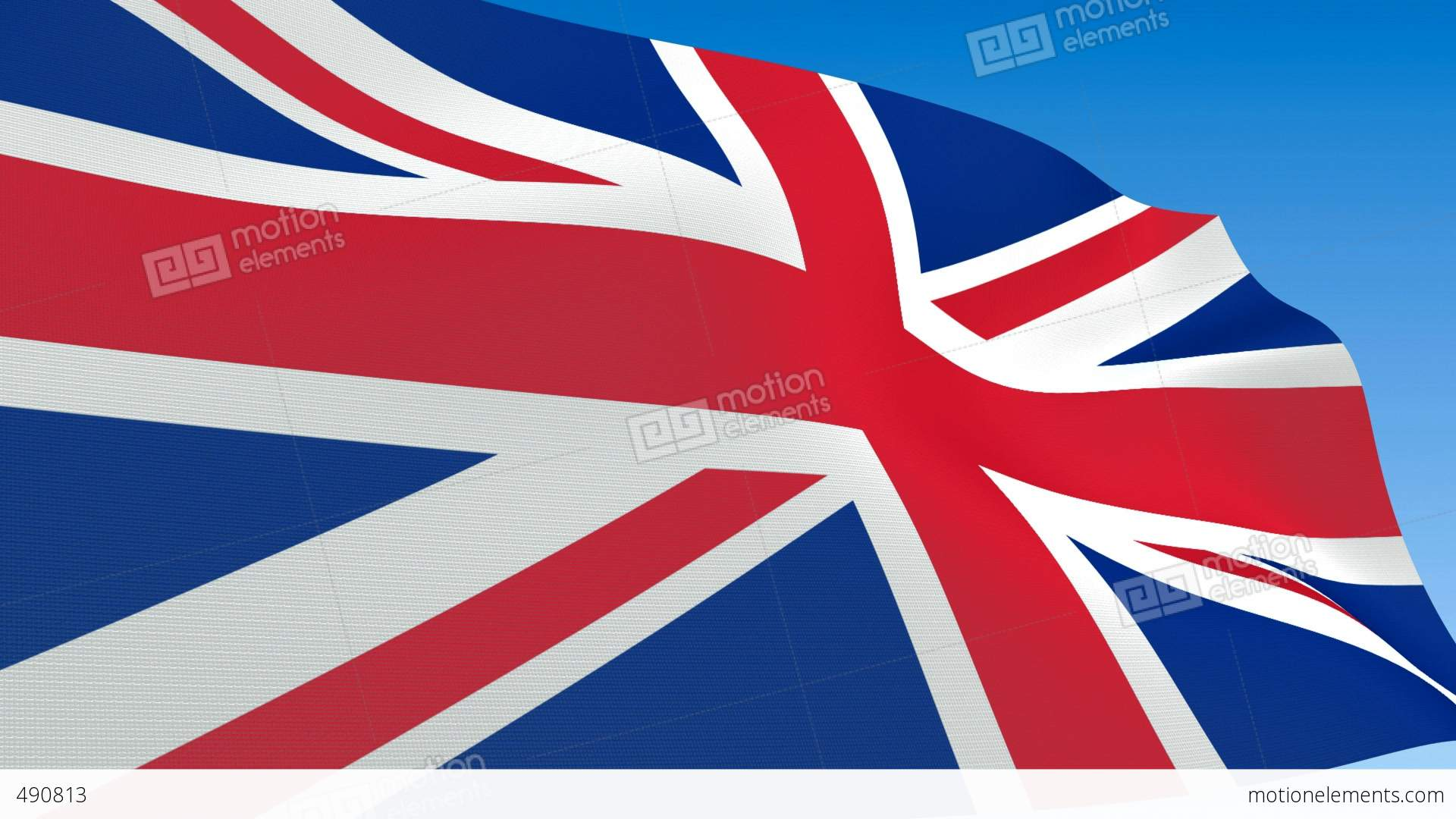 seamless loop waving great britain flag alpha channel is included