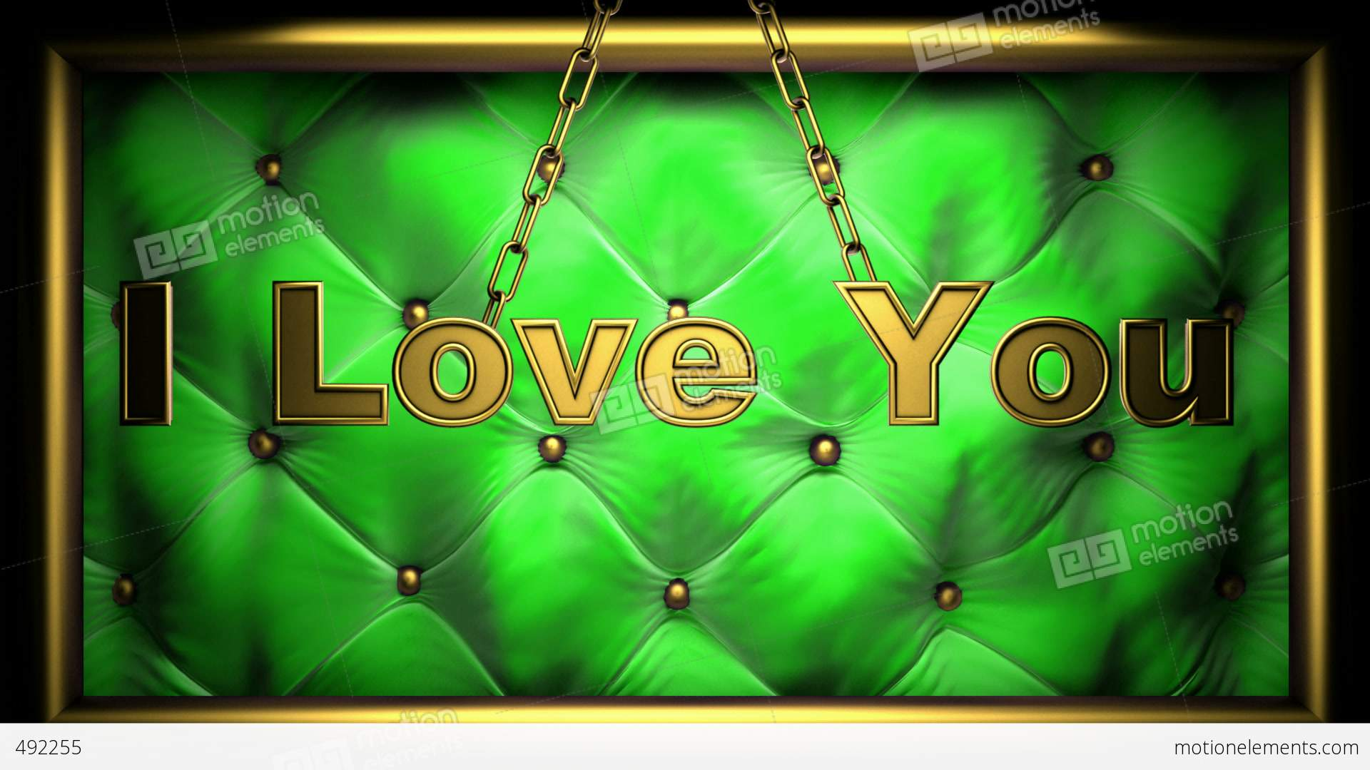 I Love You Imágenes De Stock I Love You Fotos De Stock: I Love You Green Stock Animation