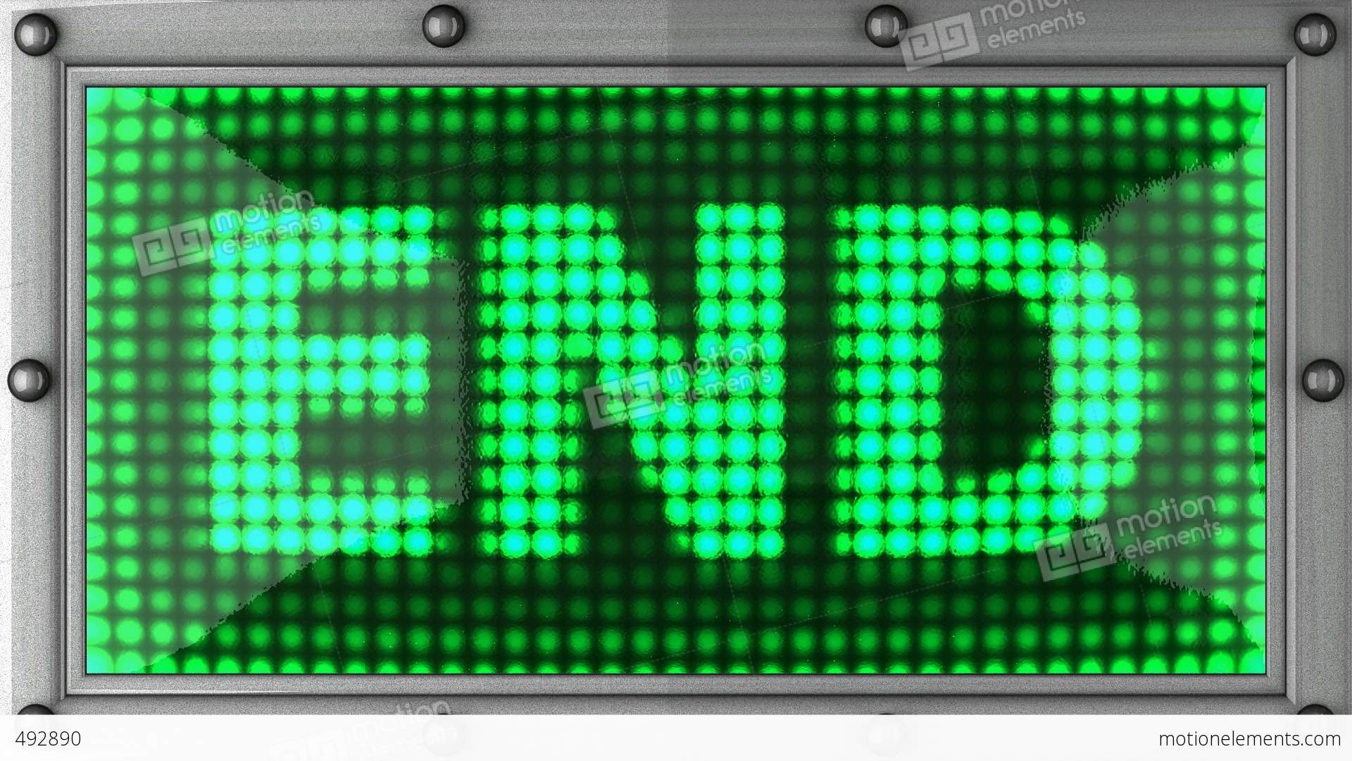 Blinking Lights End Stock Animation 492890