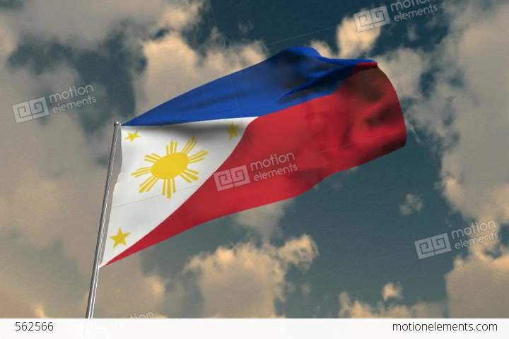 Flag Of The Phillipines Stock Animation 562566