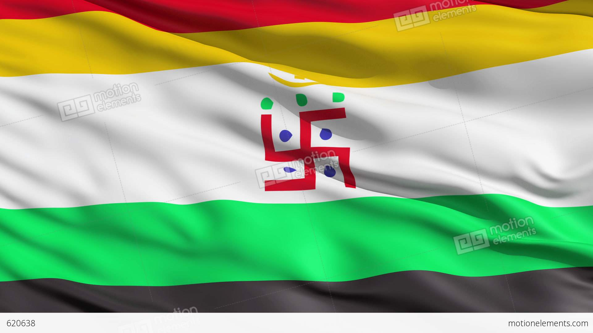 holy swastika on jain flag stock animation 620638