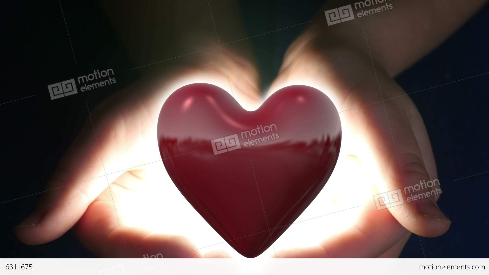 Boy Holding Heart In Her Hands Stock video footage   6311675