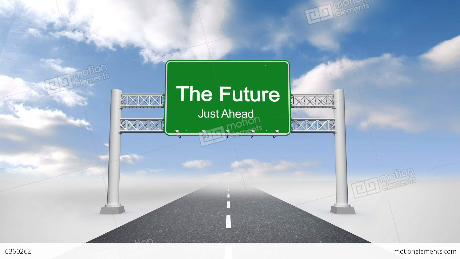 The Future Just Ahead Road Sign Against Blue Sky Stock ...