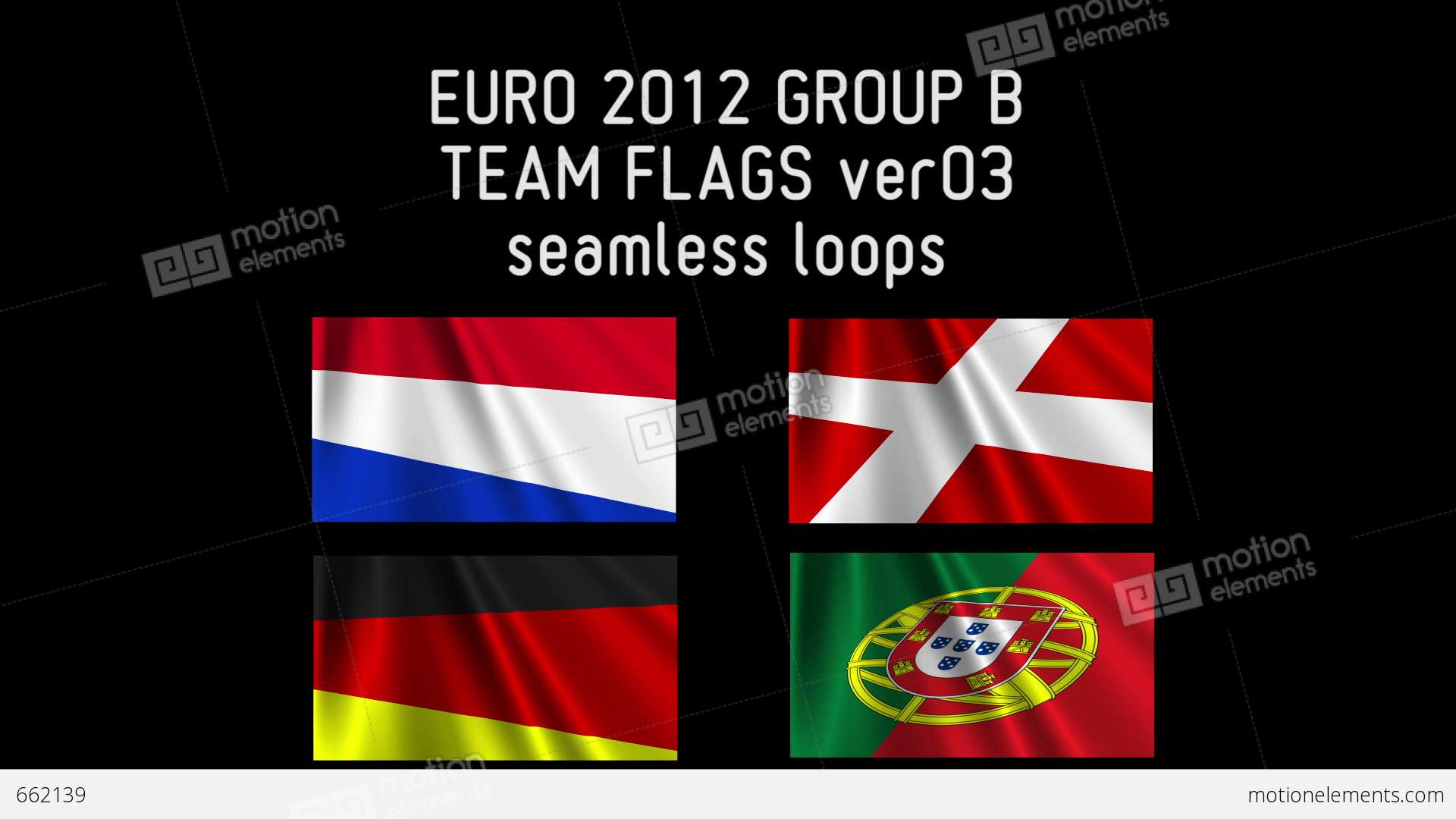 Euro 2012 group b flags 03 video hintergrund 662139 for Euro 2012 groupe