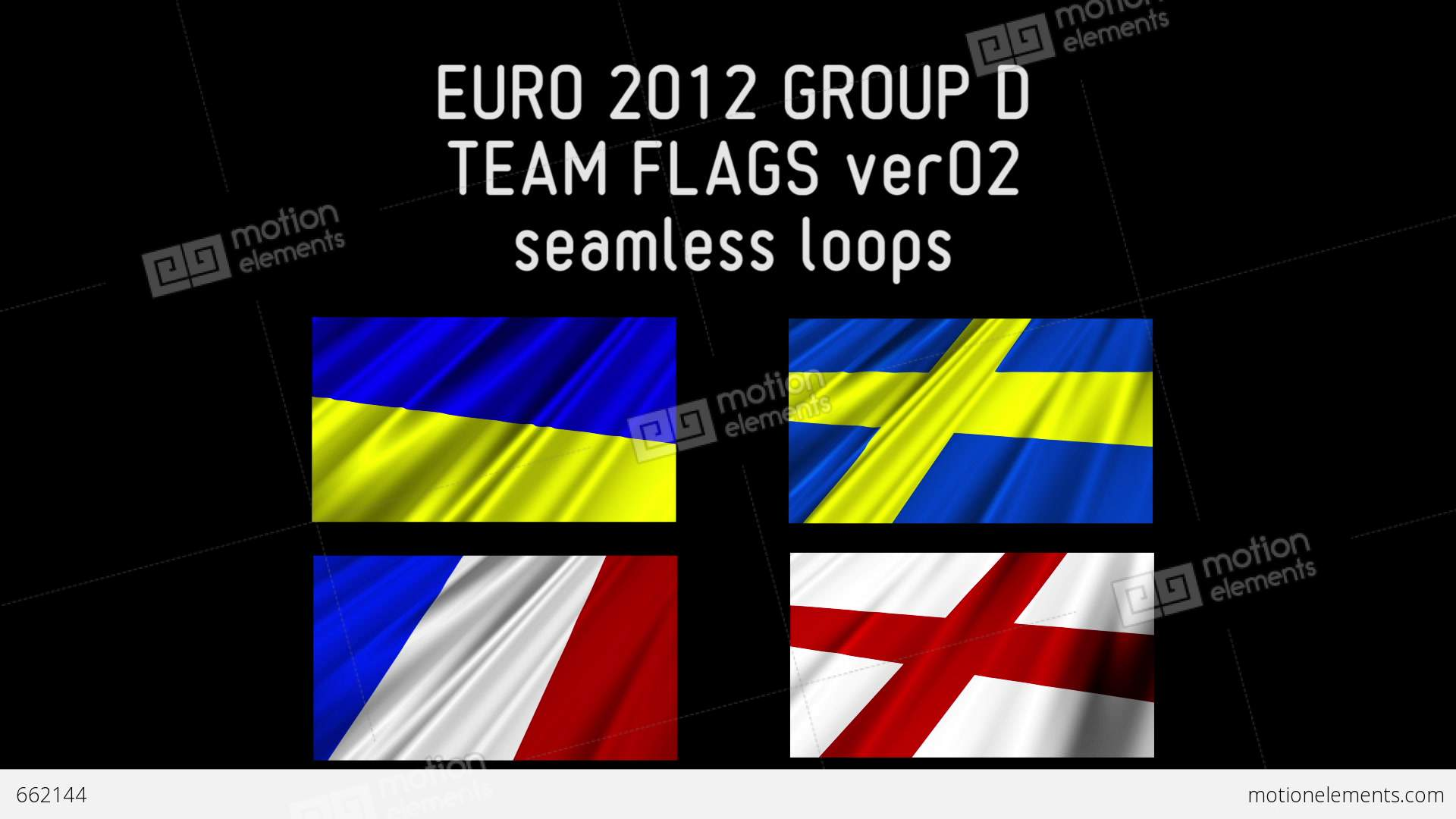 Euro 2012 group d flags 02 stock animation 662144 for Euro 2012 groupe