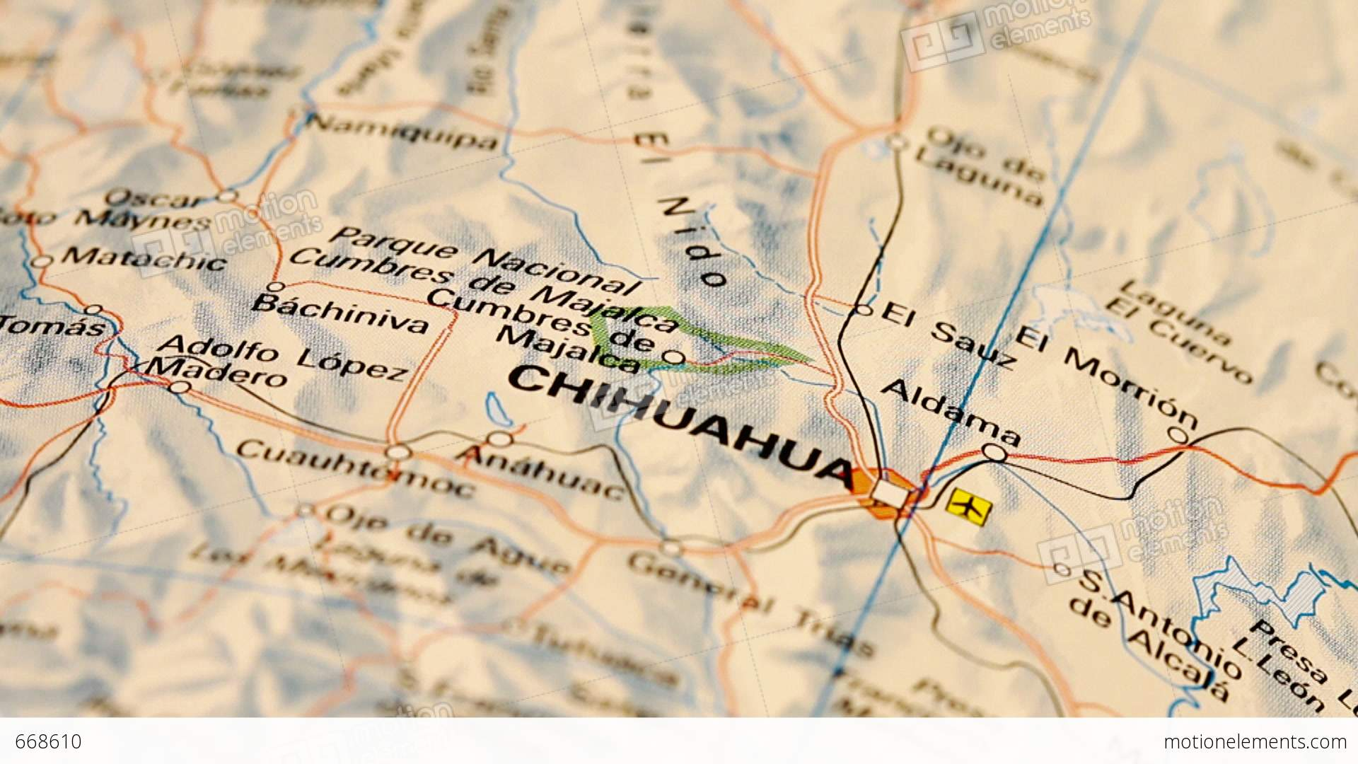 Chihuahua And Northern Mexico On Map DOLLY Video Footage – Map Northern Mexico