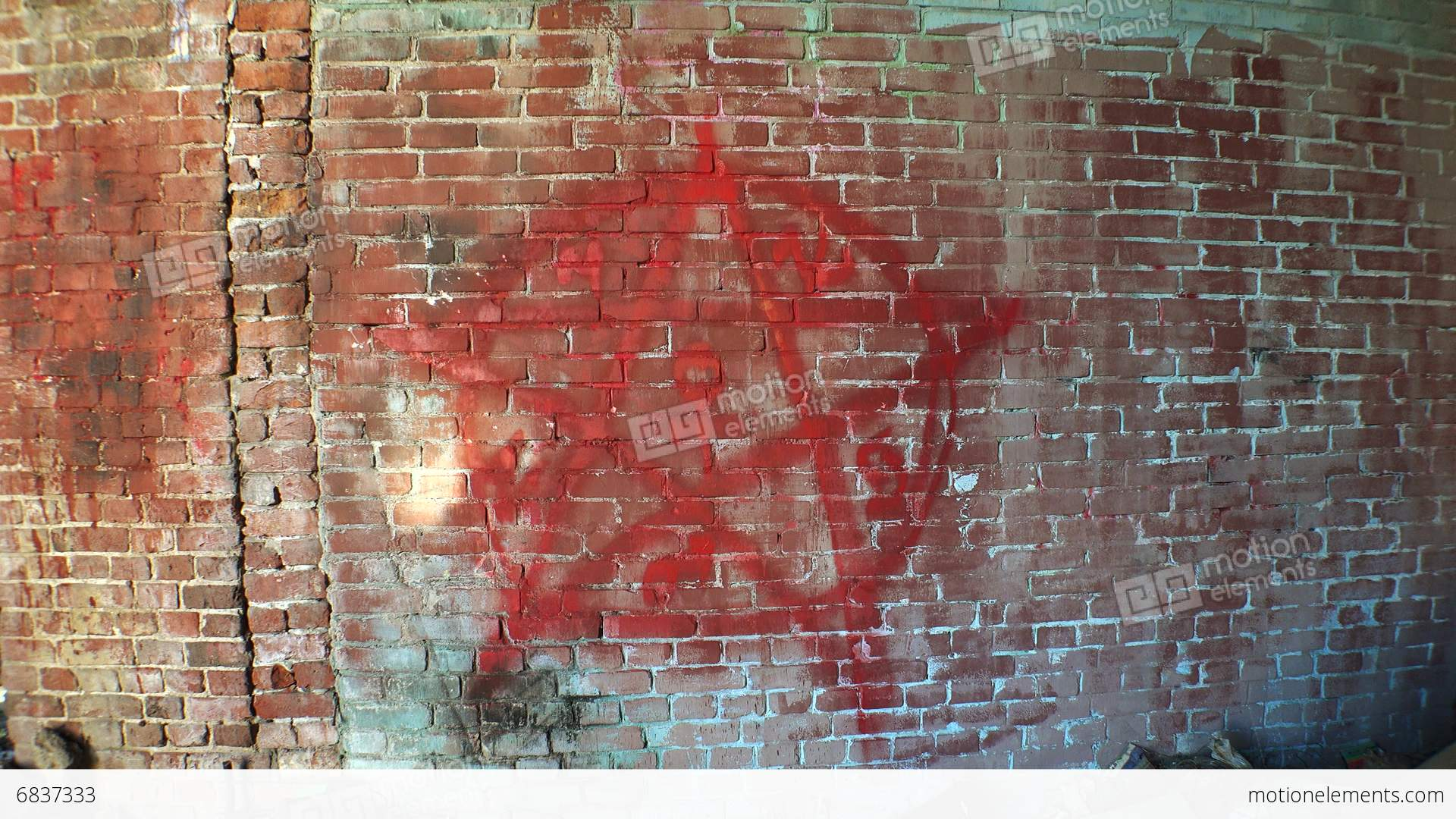 Pentagram Symbol Of Satan On A Brick Wall 4k Stock Video Footage