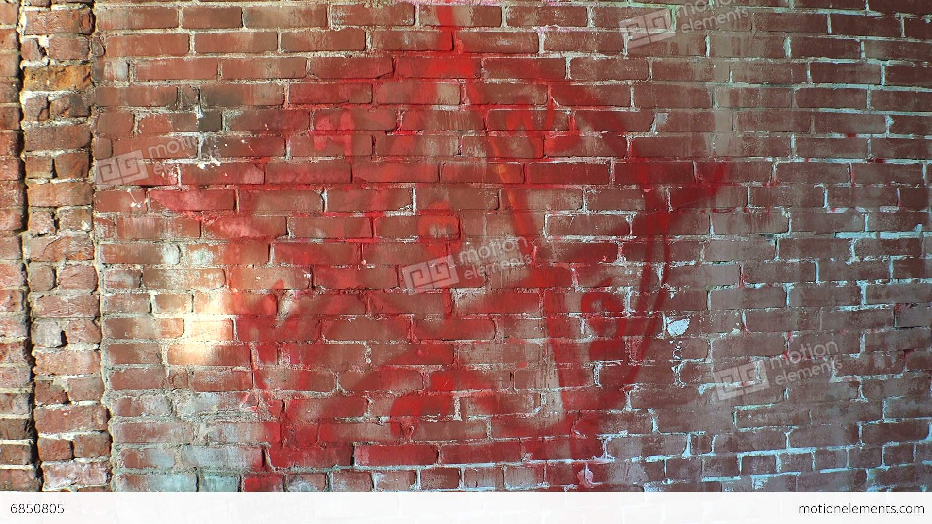 Pentagram Symbol Of Satan On A Brick Wall 4k Stock Video Footage