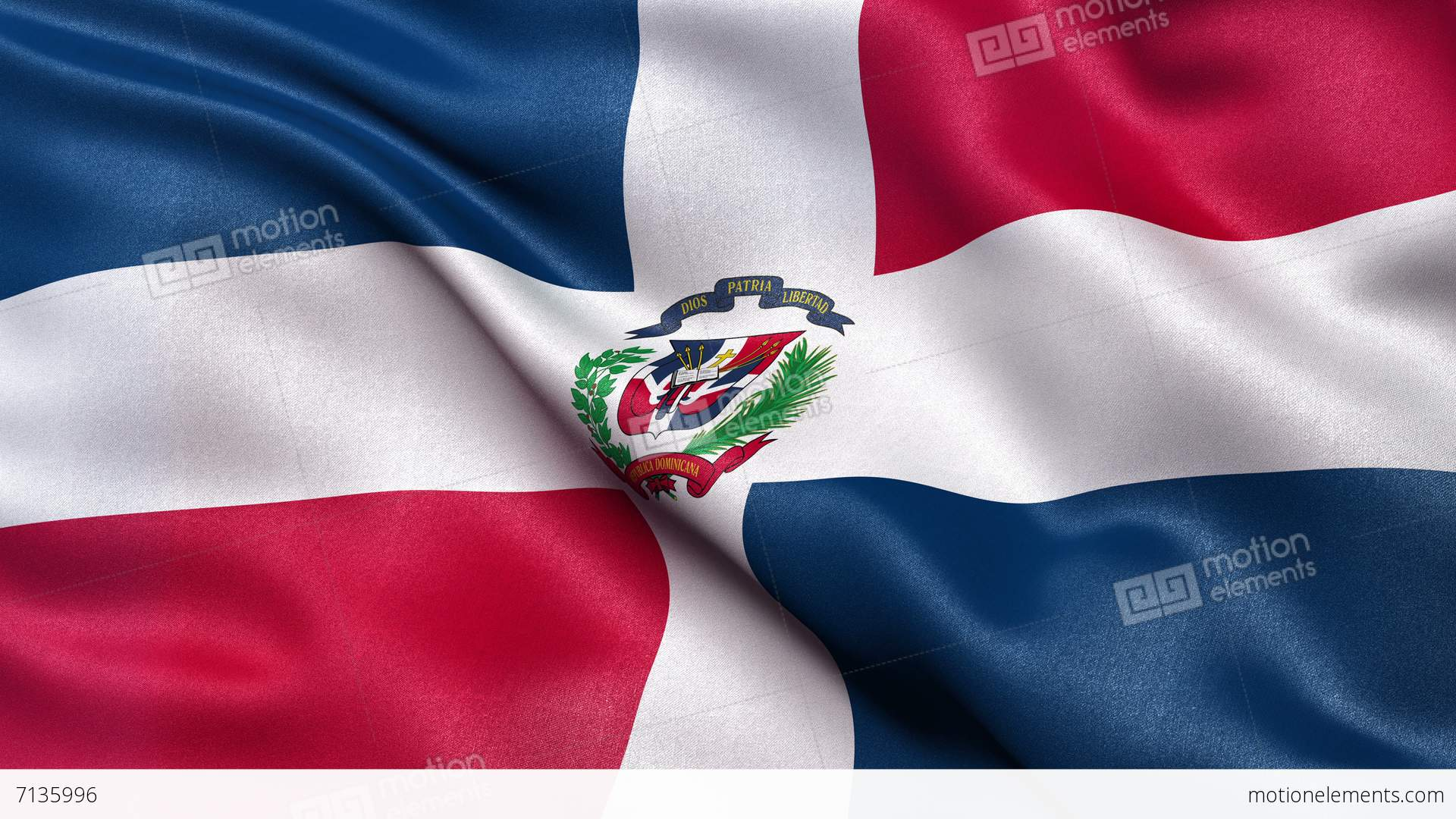 4k Flag Of The Dominican Republic Seamless Loop Ultra Hd Stock
