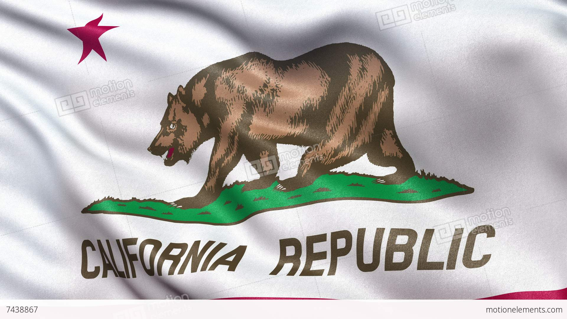 Source 4K California State Flag Seamless Loop Ultra HD Stock Animation