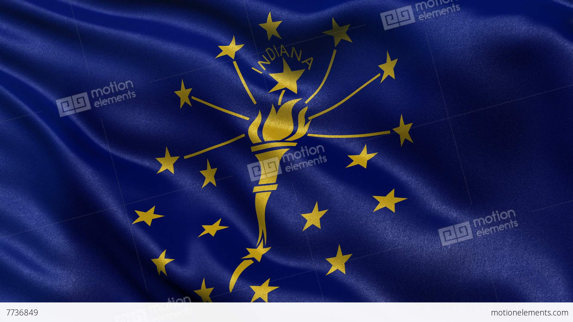 4k Indiana State Flag Seamless Loop Ultra Hd Stock Animation 7736849