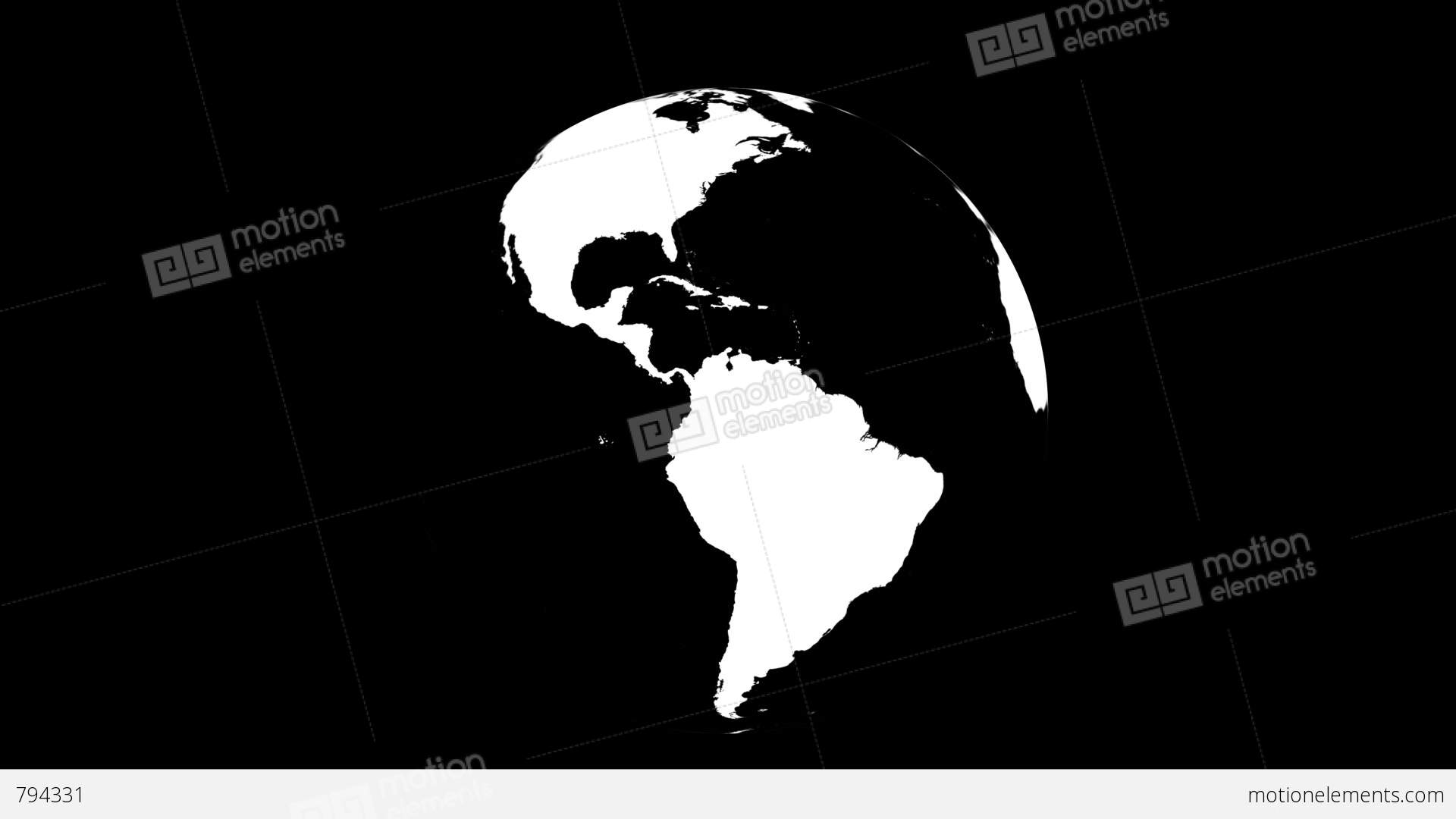 symbolic earth globe rotating on white  loop with matte Drawing Earth Clip Art Rotation Clip Art