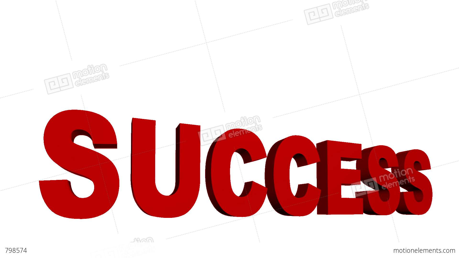 Destruction of the word success stock video footage
