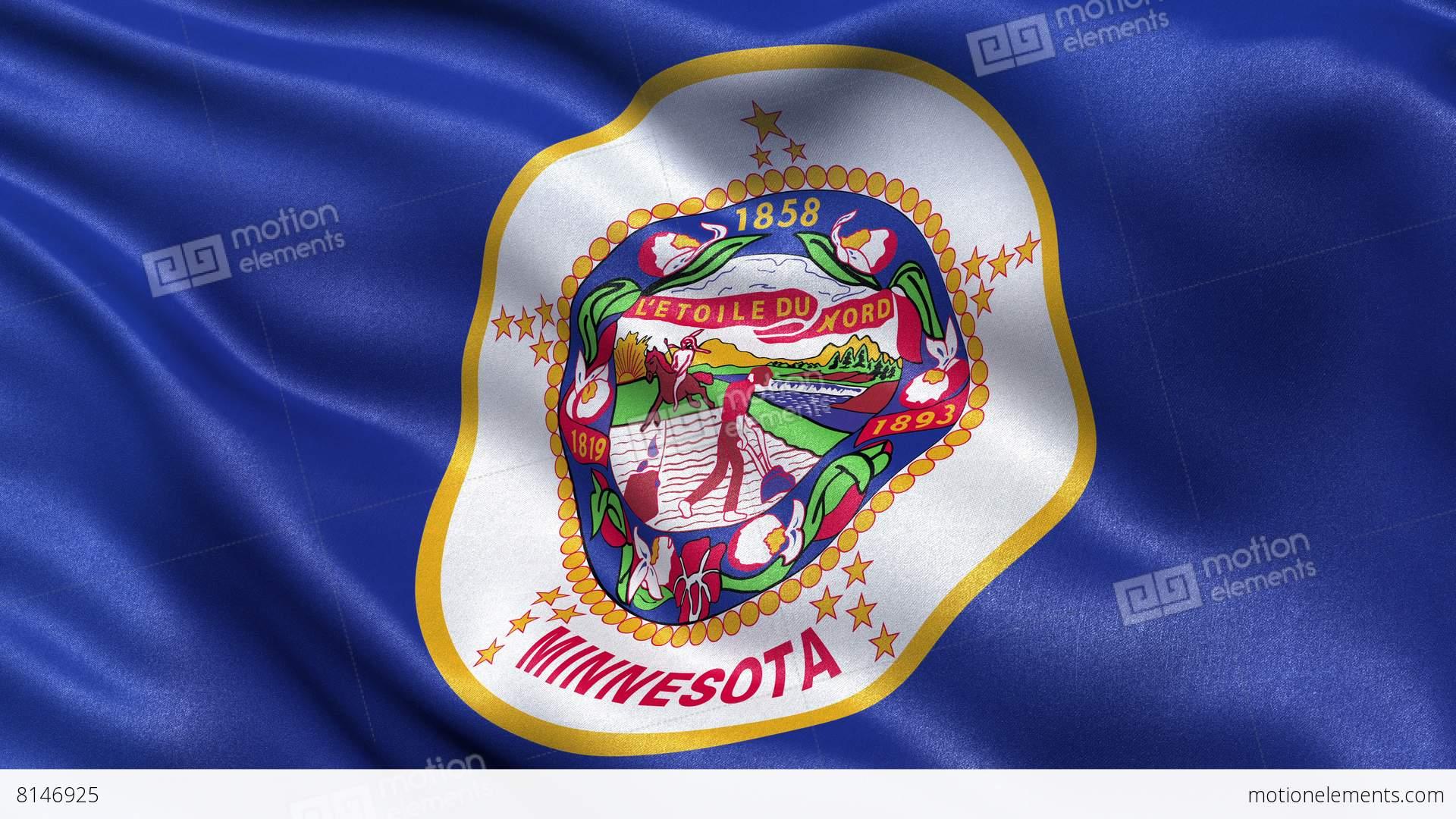 4k Minnesota State Flag Seamless Loop Ultra Hd Stock Animation 8146925