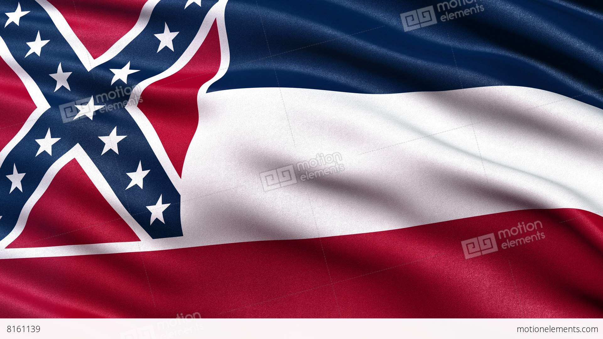 4k mississippi state flag seamless loop ultra-hd stock animation