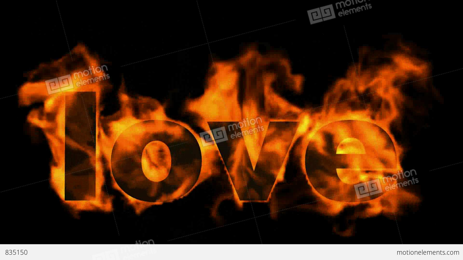 Burning love text in flames stock animation 835150 burning love text in flames stock video footage buycottarizona