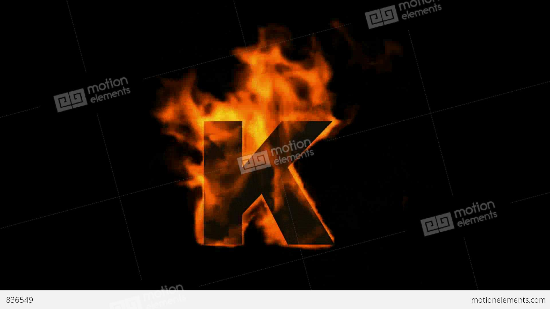 Fire letter k stock animation 836549 fire letter k stock video footage thecheapjerseys Choice Image