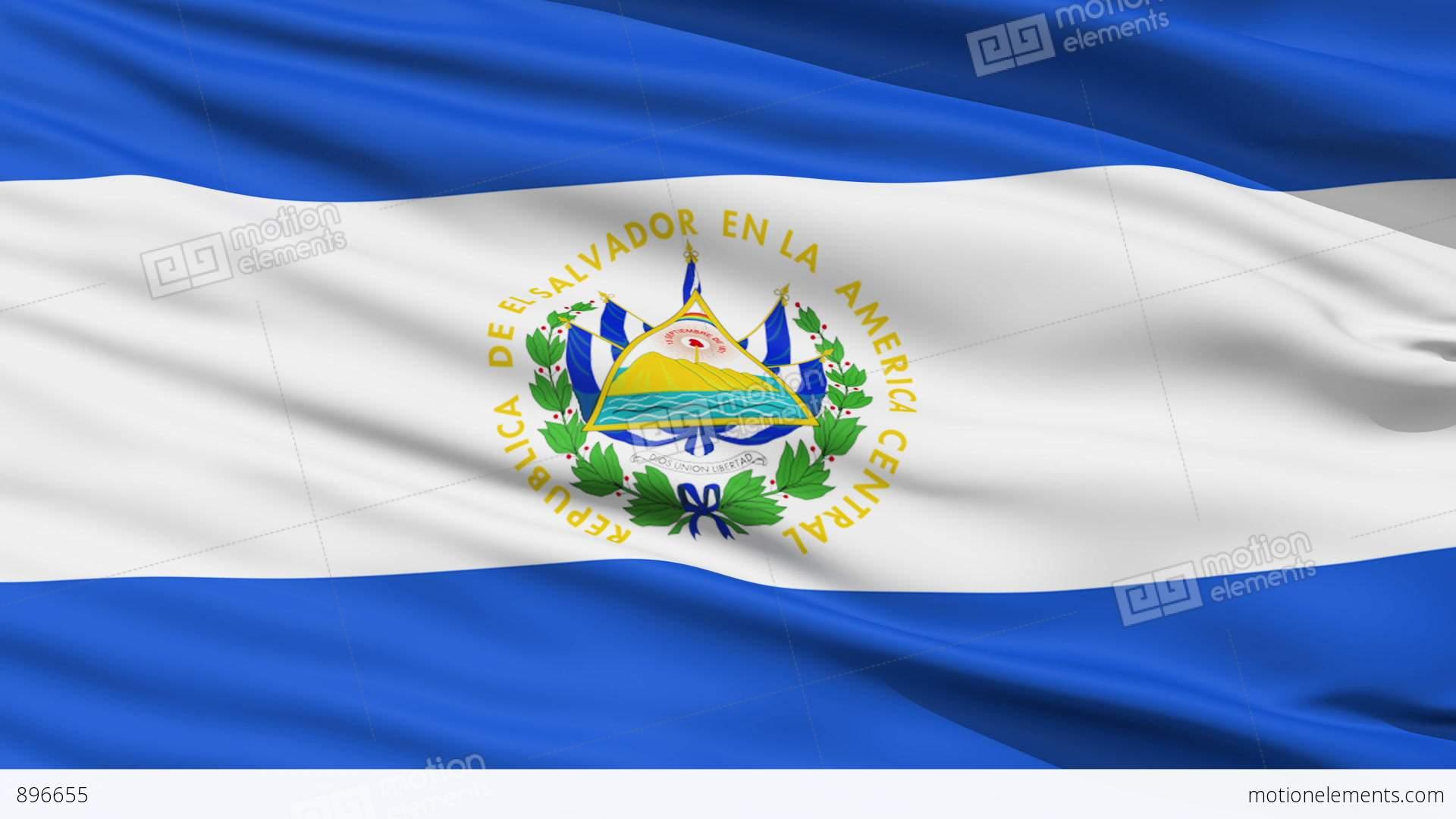 Waving National Flag Of El Salvador Stock Animation | 896655