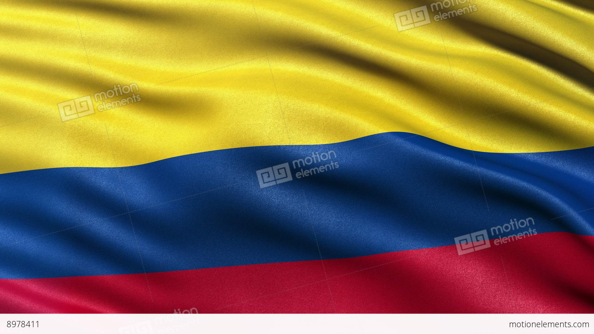 4k Colombia Flag Seamless Loop Ultra Hd Stock Animation 8978411