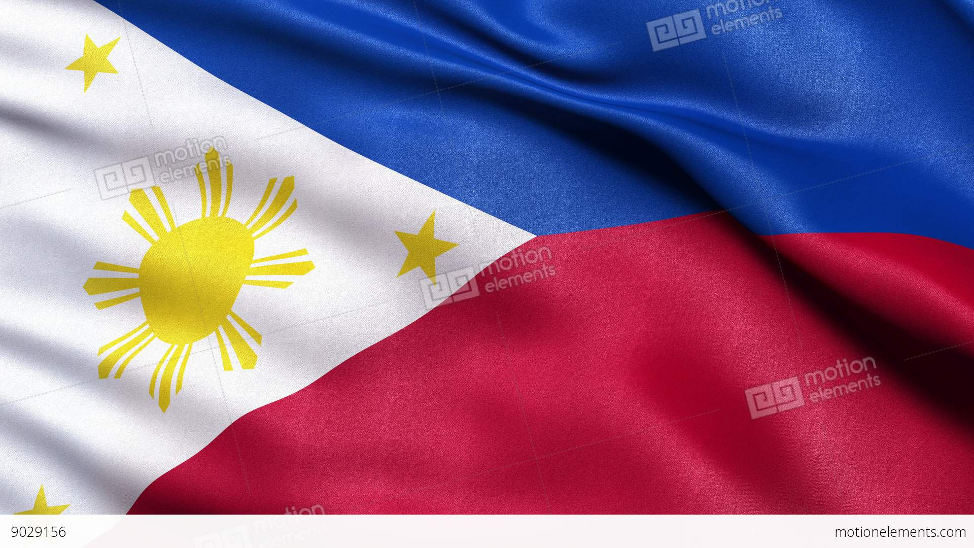 4k Philippines Flag Seamless Loop Ultra Hd Stock Animation