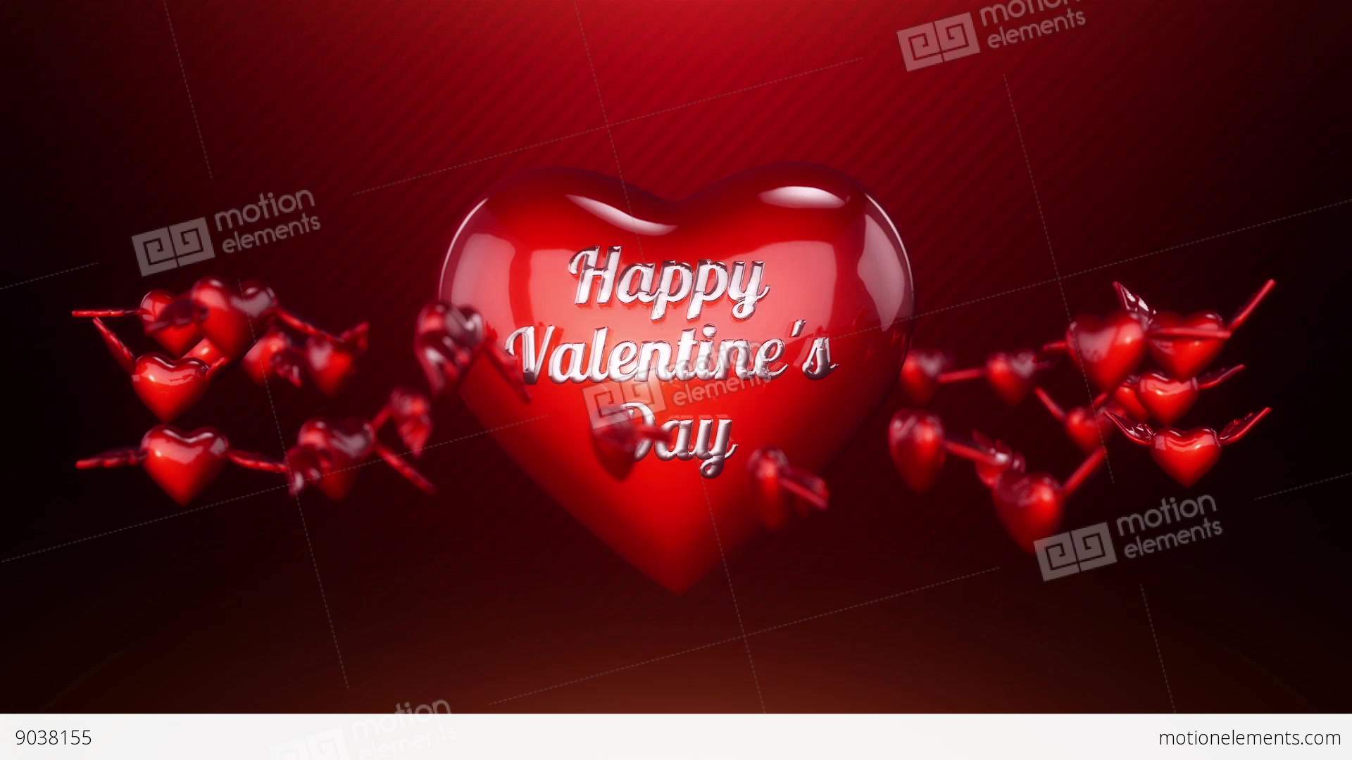 Hearts And Angel Wings Background Animation For Stock Video Footage