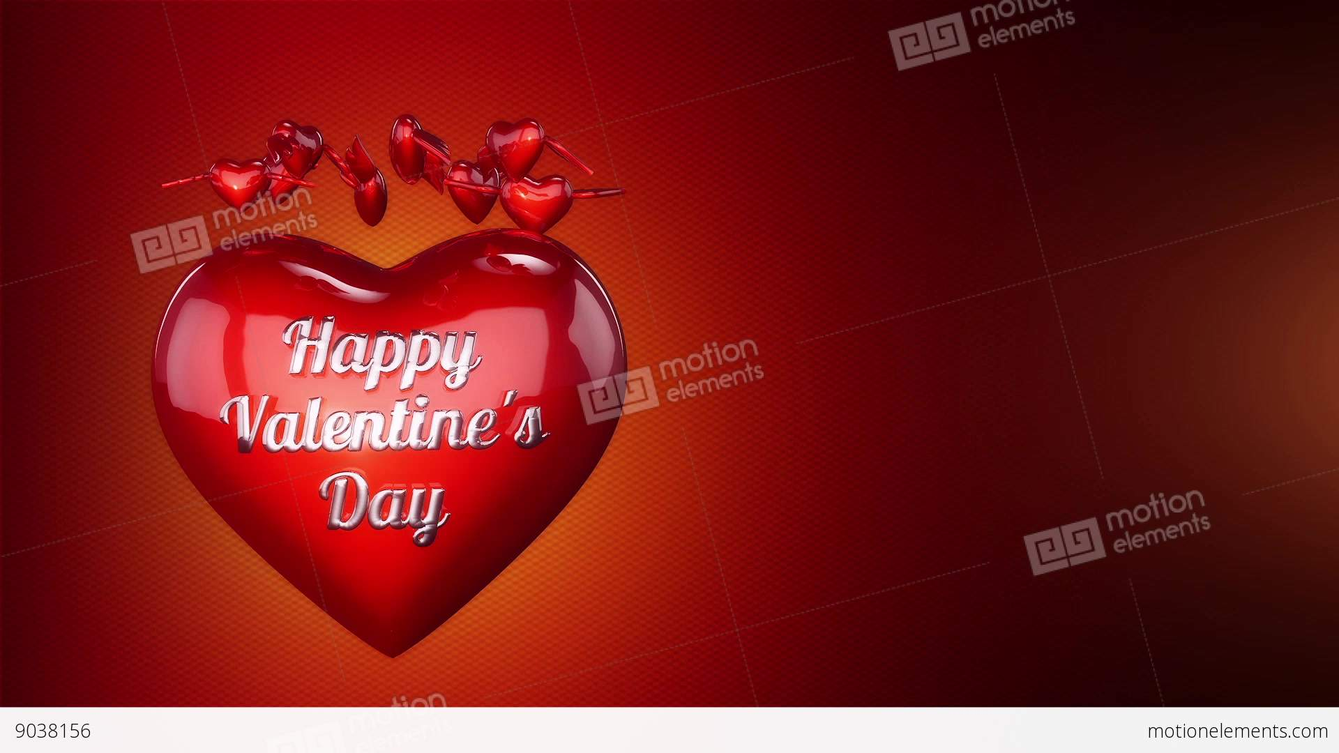 Hearts And Angel Wings Background Animation For Valentines Day And