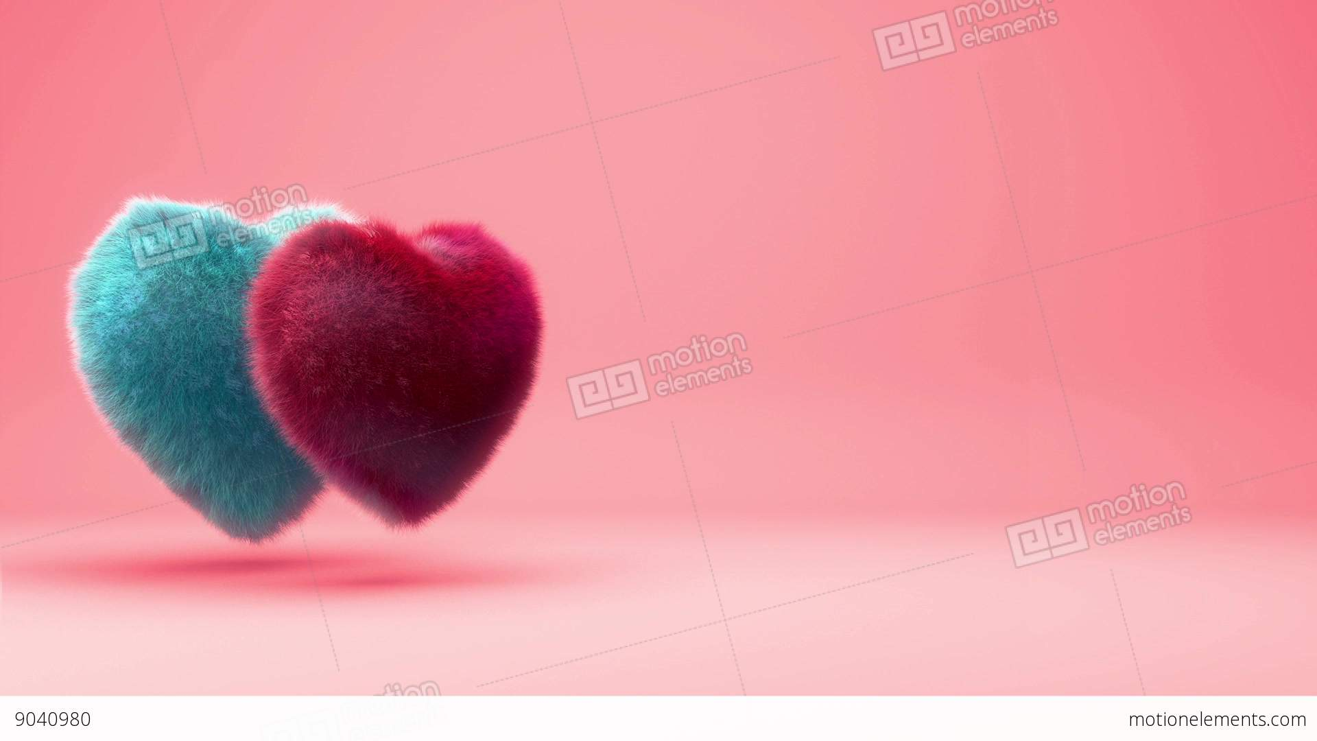 Hairy Hearts Background Animation For Valentines Day And Wedding