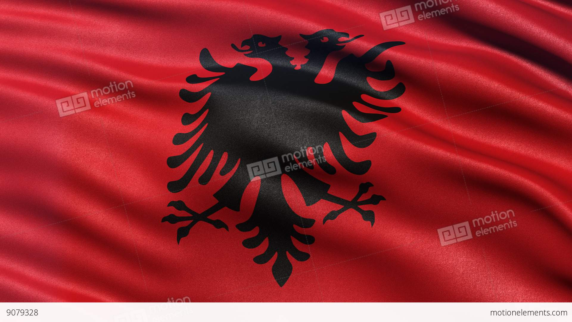 K Albania Flag Seamless Loop UltraHD Stock Animation - Albania flag