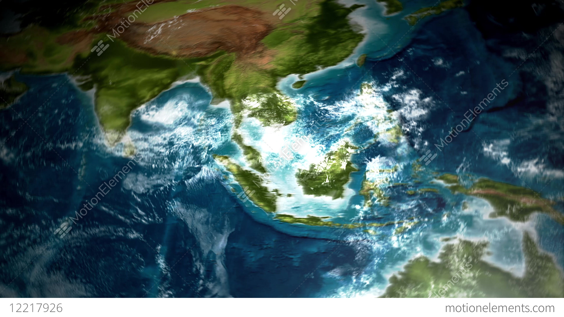4k Earth Map View From Satellite Stock Animation 12217926