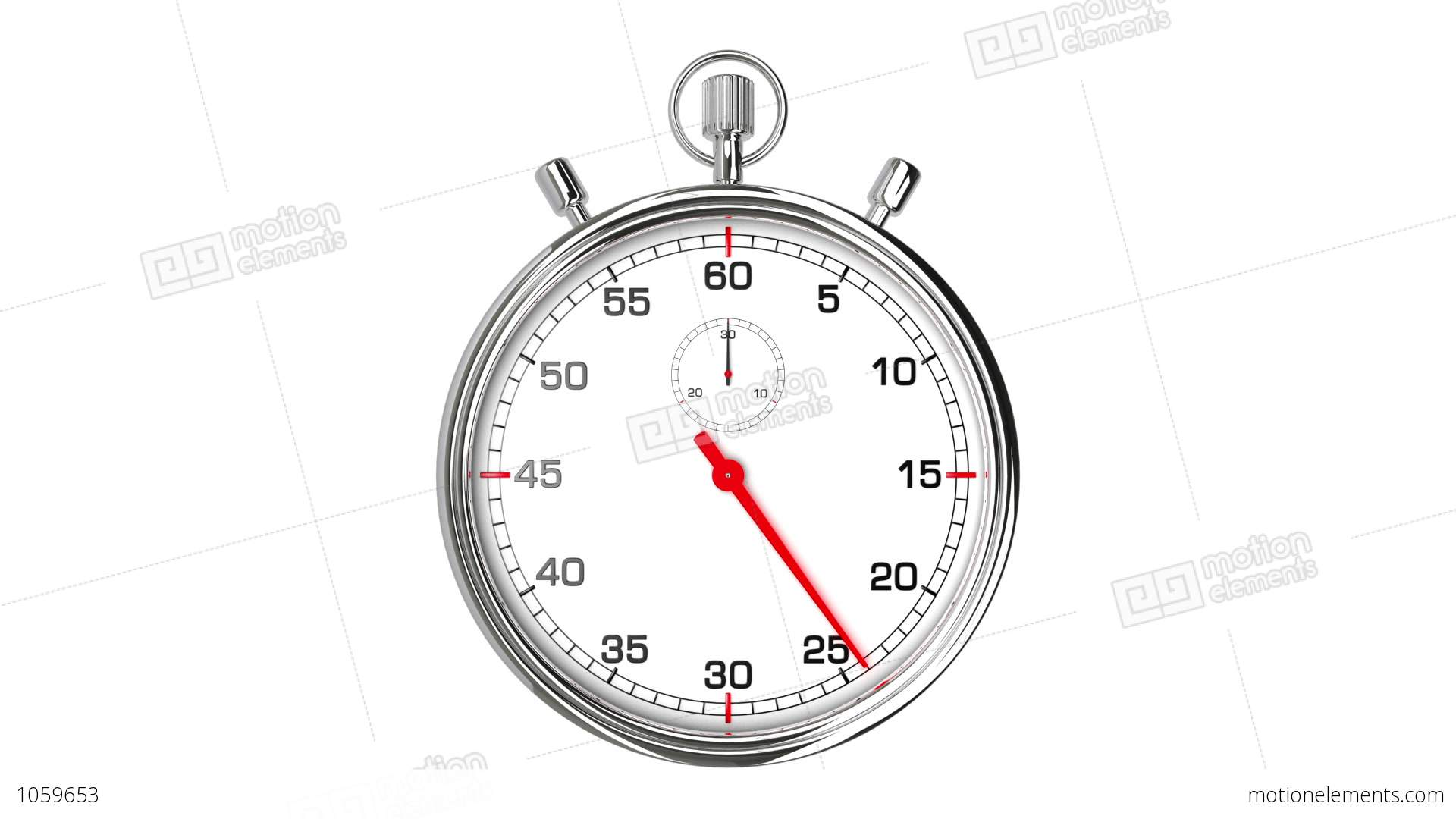 stopwatch loop realtime stock animation