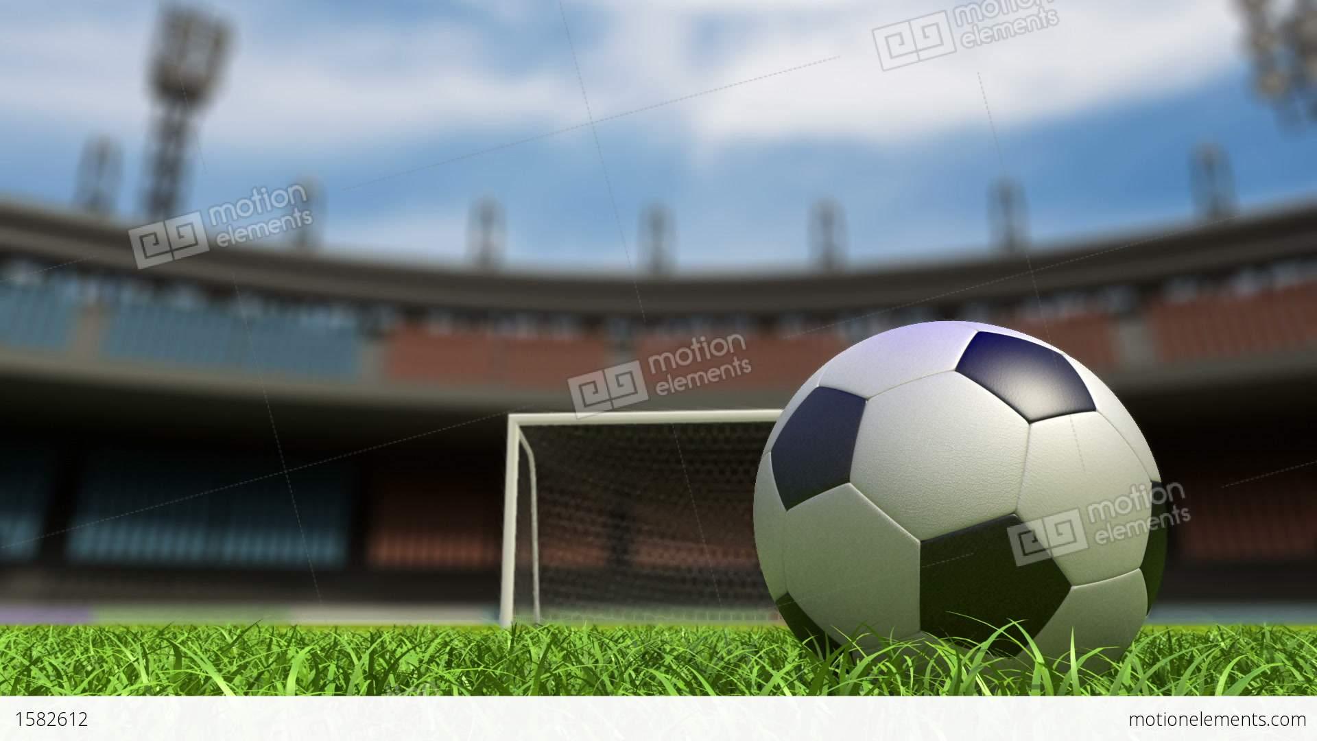 Football Background Stock Animation