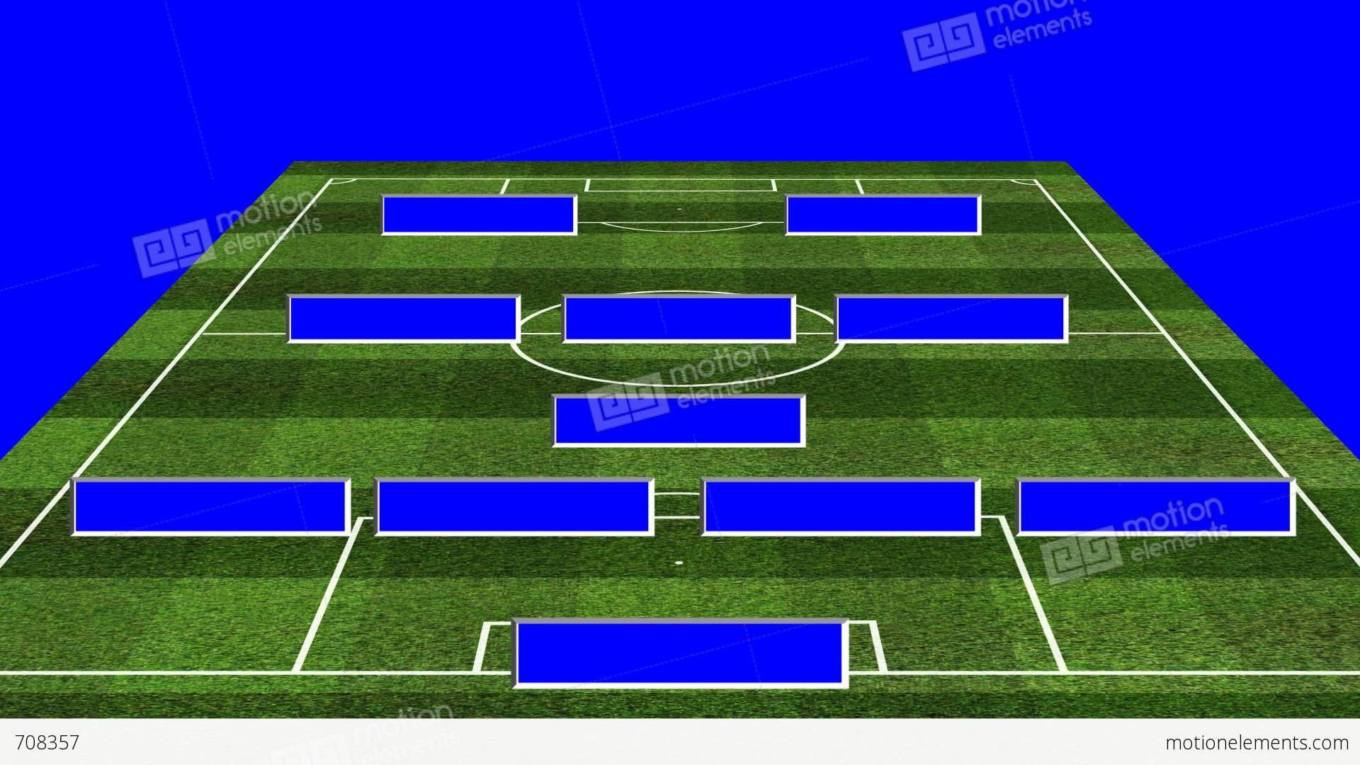 3d bs football lineup 4132 stock animation 708357 for Soccer starting lineup template