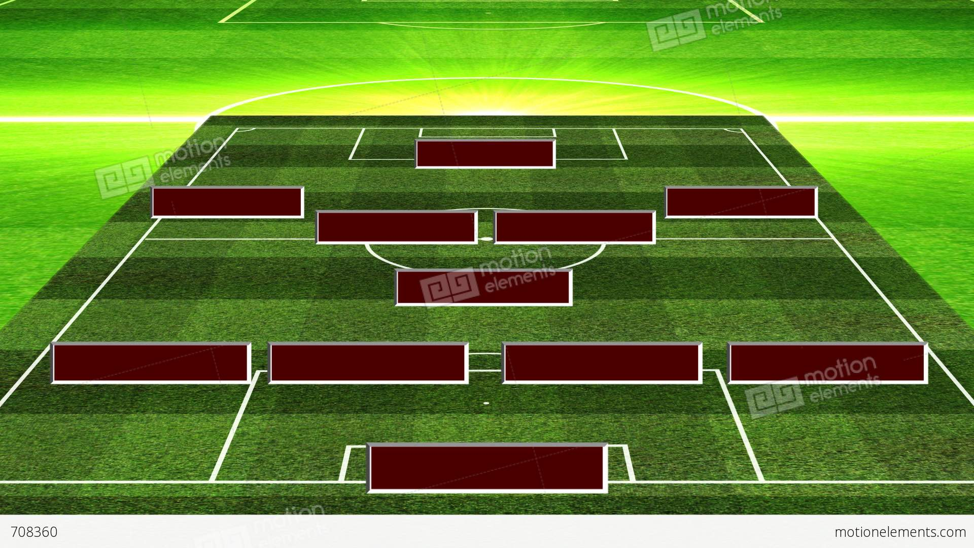 3d Football Lineup 451 Stock Animation 708360