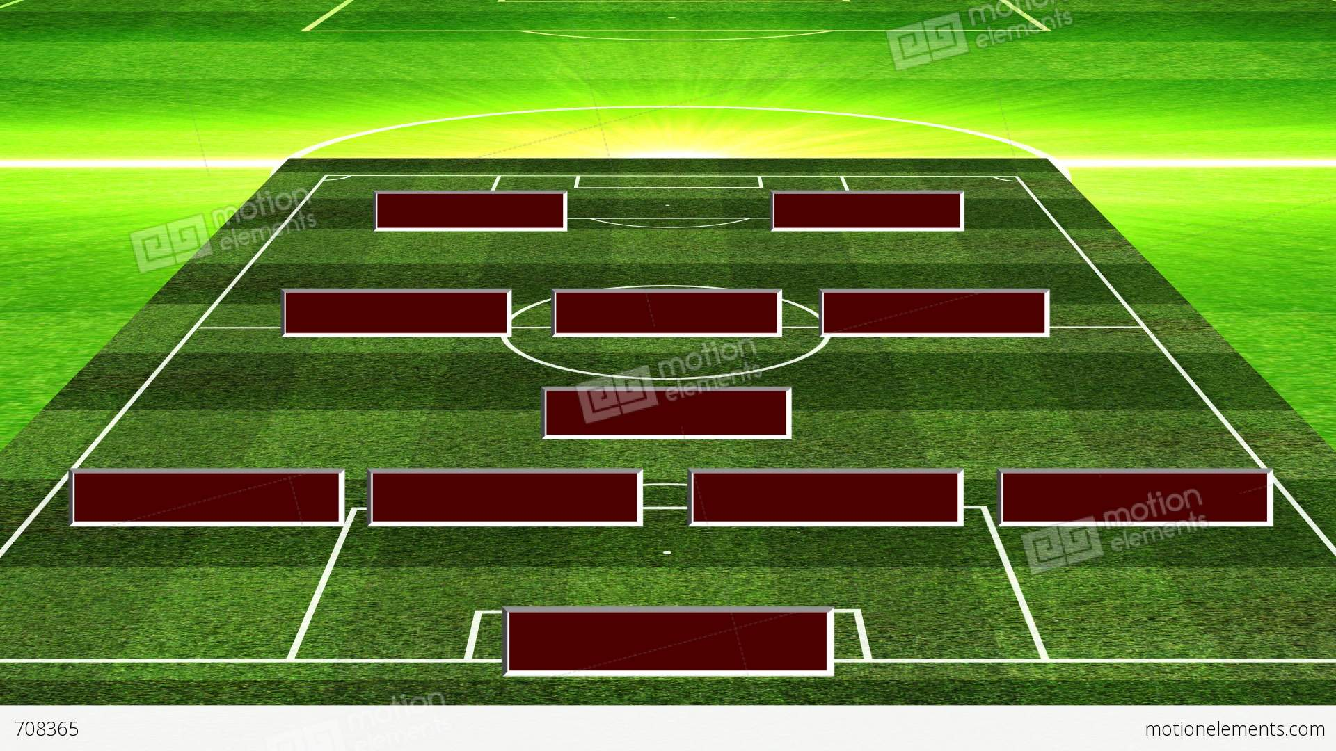 3D Soccer Lineup 4132 Stock Animation | 708365