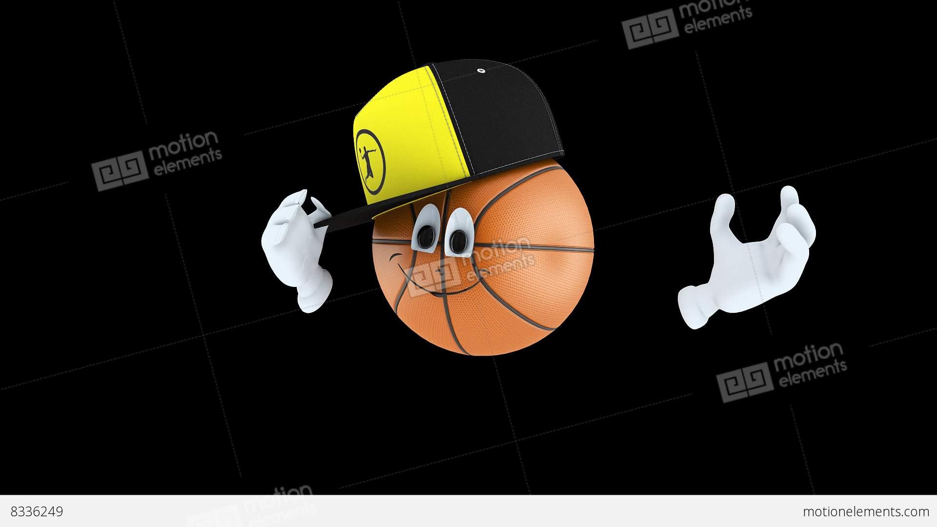 animated basketball character stock animation 8336249