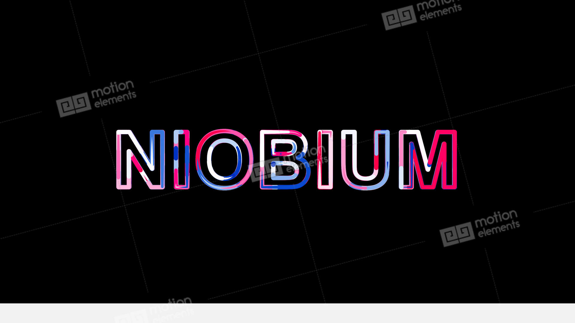 Letters Are Collected In Element Of Periodic Table Niobium Then